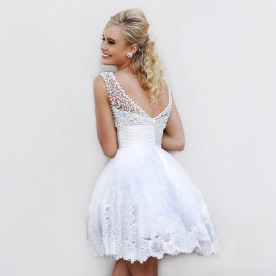 Sleeveless Pearl Stunning Floral Embroidery Dress