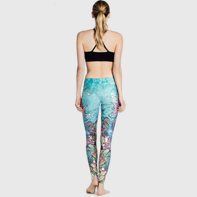 Medium Rise Skinny Fit Nautical Natural Print Leggings
