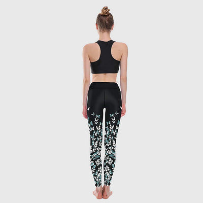 High Waist Skinny Fit Sweet Natural Print Leggings