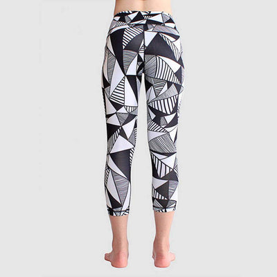 Medium Rise Skinny Fit Modern Geometric Print Leggings