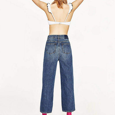 High Rise Pearl Funky Plain Jeans