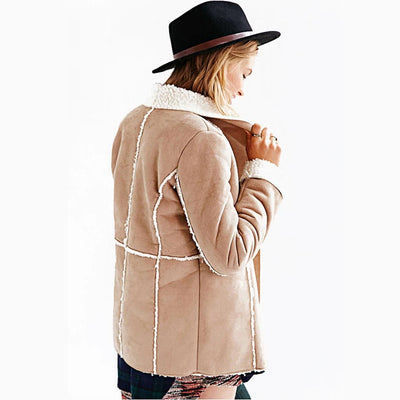 Long Sleeve Lapels On-Trend Plain Jacket