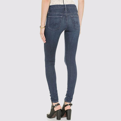 High Rise Skinny Fit Classic Plain Jeans