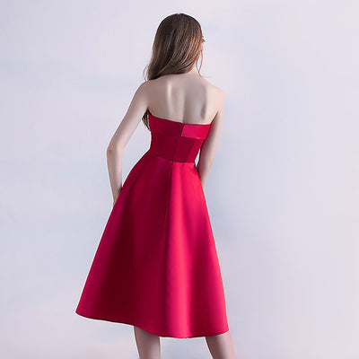 Sleeveless Bandeau Elegant Plain Dress