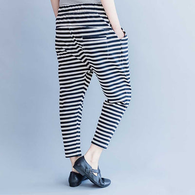 Medium Rise Pocket Nautical Striped Pants