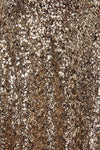 Cap Sleeve Sequin Glittery Plain Dress