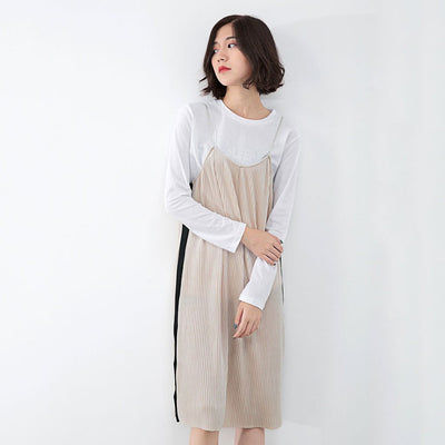 Sleeveless Spaghetti Strap On-Trend Color Block Dress