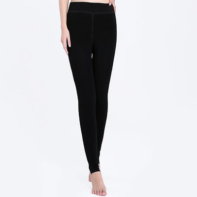 Medium Rise Cute Plain Leggings