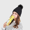 Pom Pom Cool Plain Beanie Hat