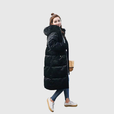 Long Sleeve Zipper Urban Plain Parka