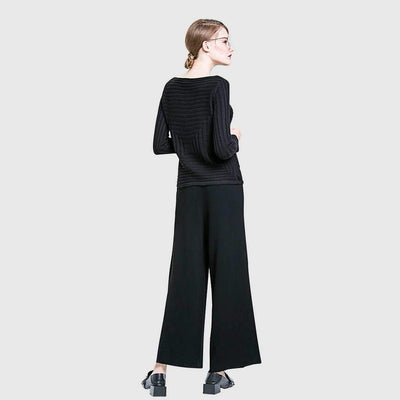 High Waist Belted Flattering Plain Pants