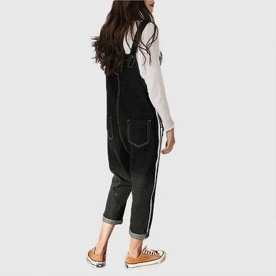 Sleeveless Pockets Urban Plain Jumpsuit