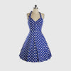 Sleeveless Halter Neck Retro Polka Dot Dress