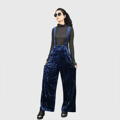 High Waist Pockets Luxe Plain Jumpsuit