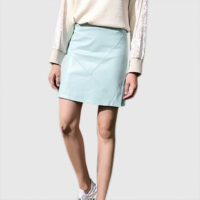 Regular Waist Chic Plain Skirt
