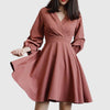 Ruffle Sleeve V Neck Pretty Plain Dress