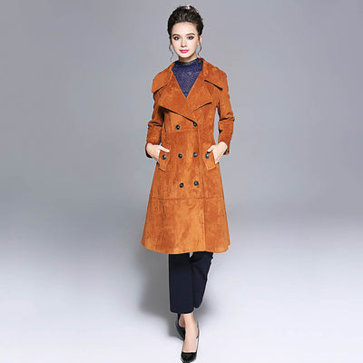 Long Sleeve Button Chic Plain Coat