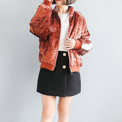 Cuff Sleeve Embroidery Luxe Plain Jacket