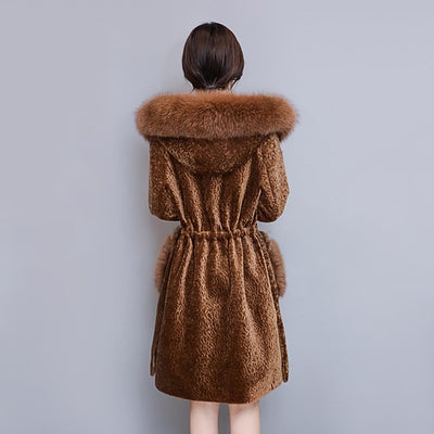 Long Sleeve Faux Fur Stunning Plain Coat