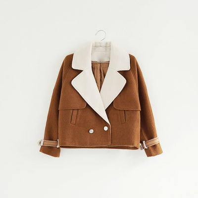 Long Sleeve Pockets On-Trend Plain Box Silhouette Jacket