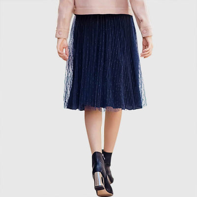Regular Waist Elegant Plain Skirt