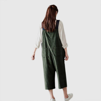 Medium Rise Pocket Boyish Plain Jumpsuit