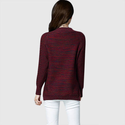 Long Sleeve Round Neck Classic Plain Sweater