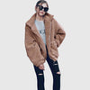 Long Sleeve Round Neck Laid Back Plain Jacket