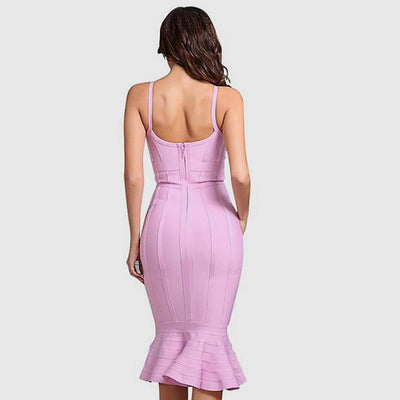 Sleeveless Panelled Stunning Plain Dress
