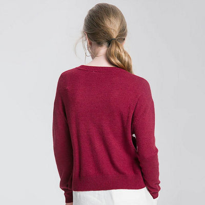 Long Sleeve Button Laid Back Plain Sweater