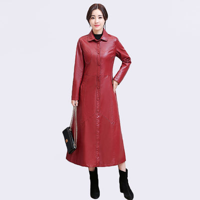 Long Sleeve Poppers Retro Plain Coat