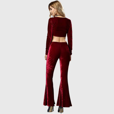 Low Rise Flared Funky Plain Pants