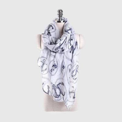 Nautical Kitsch Print Scarf