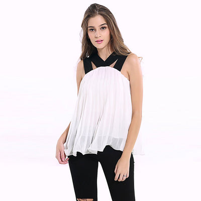 Sleeveless V Neck Flattering Plain Top
