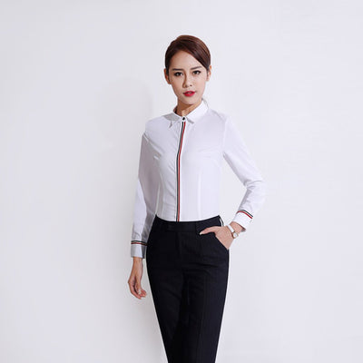 Cuff Sleeve Trimmed Modern Plain Shirt