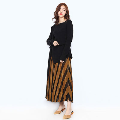 Regular Waist Stylish Plain Skirt
