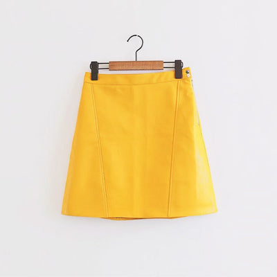 Regular Waist Rocking Plain Skirt