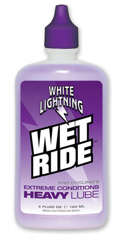 White Lightning Wet Ride Lube 120ml