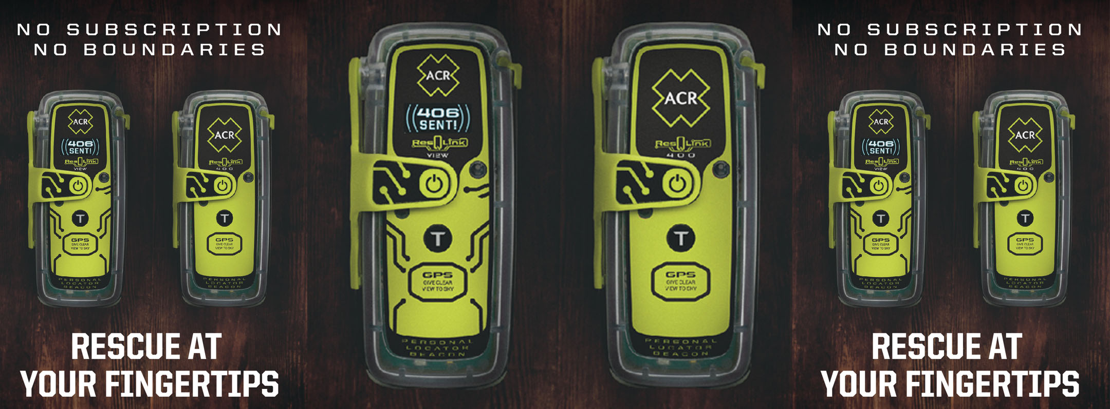 ResQLink View Personal Locator Beacon Banner
