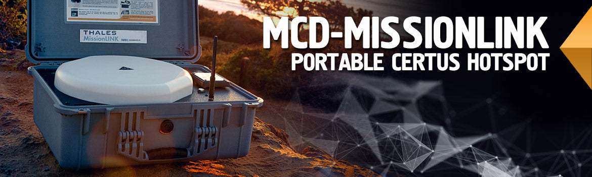 MCD-MissionLINK Portable Certus Hotspot - Apollo Satellite