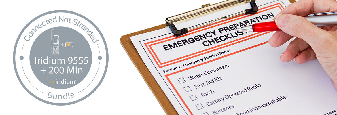 Iridium 9555 Disaster Preparedness Bundle Emergency Check List
