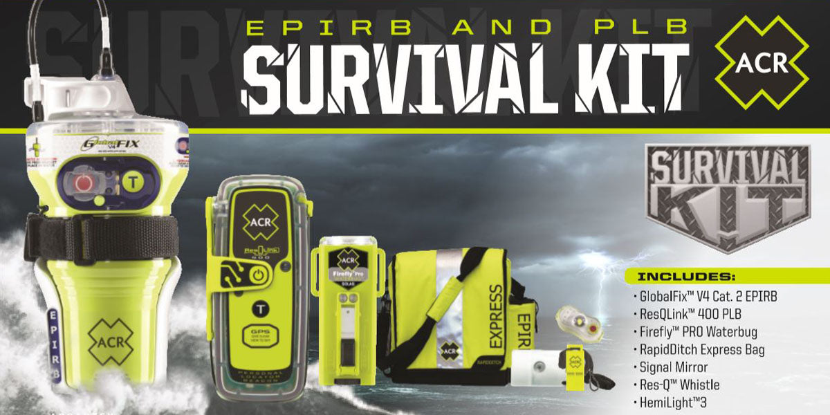 ACR GlobalFix V4 and ResQLink 400 Survival Kit