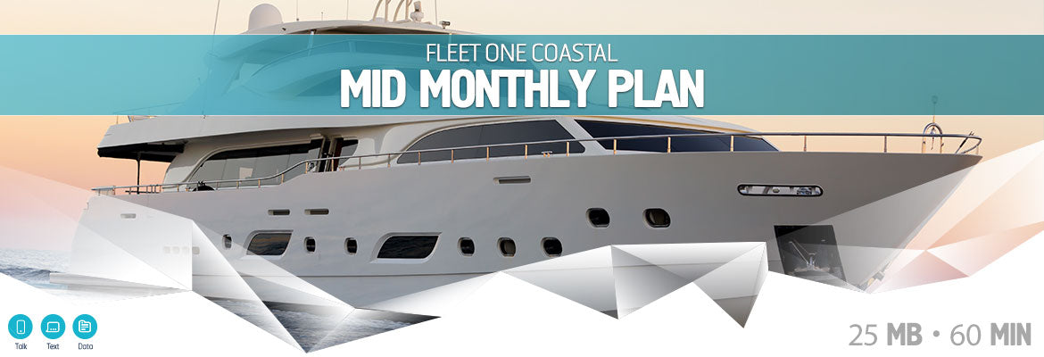 Inmarsat Fleet One Coastal Mid Monthly Plan