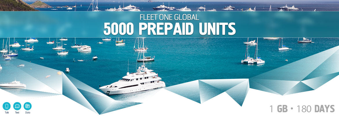 Inmarsat Fleet One Global Prepaid 5000 Units