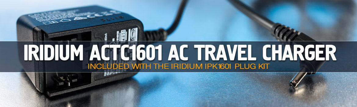 Iridium ACTC1601 AC Charger IPK1601 Plug Kit - Apollo Satellite
