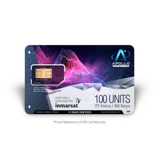 IsatPhone 100 Unit Inmarsat Prepaid SIM Card