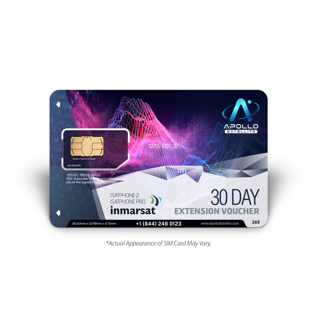 IsatPhone 30 Day Extension Inmarsat Prepaid SIM Card