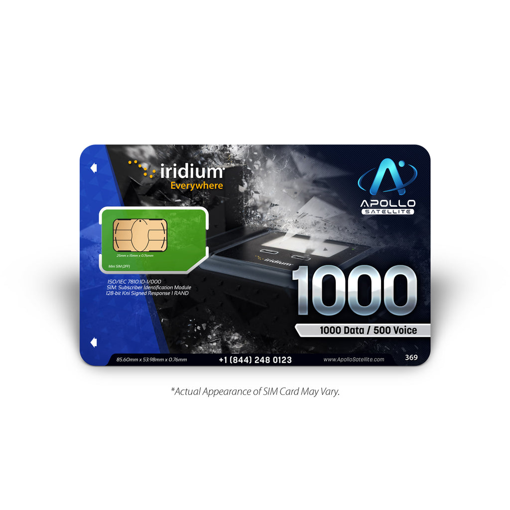 Iridium GO Global Prepaid 1000 SIM Card
