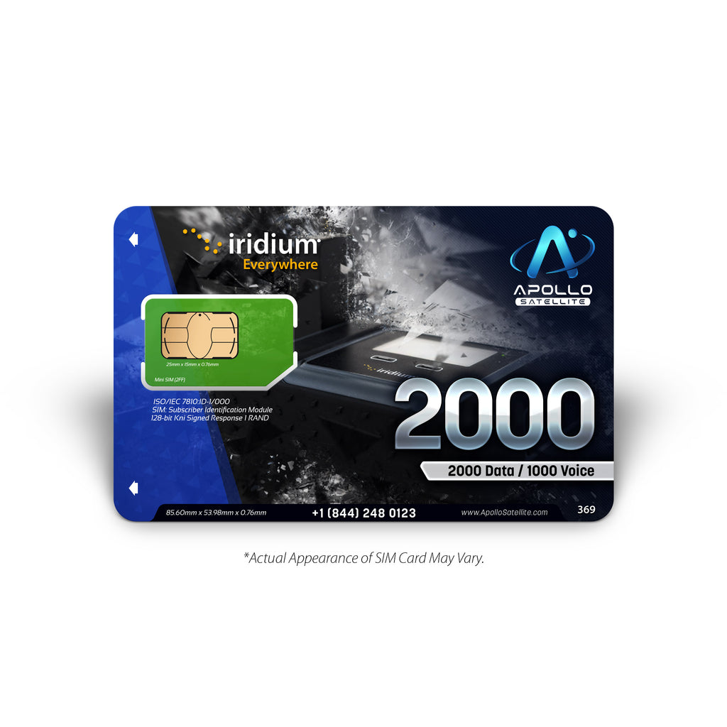 Iridium GO Global Prepaid 2000 SIM Card