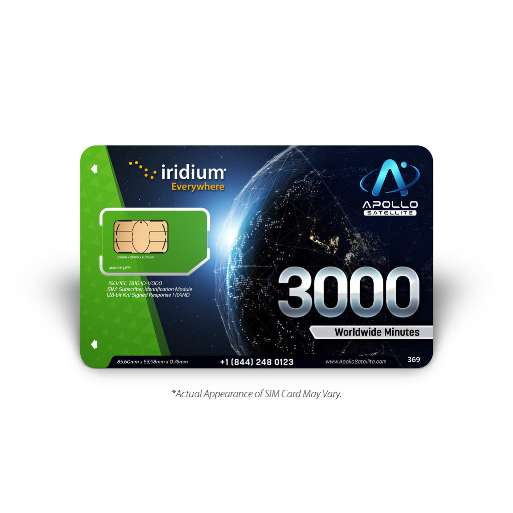 Iridium Global 3000 Minute 2 Year Prepaid SIM